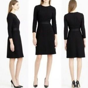 J. Crew Black Double-Faced Wool Crepe Dress Career